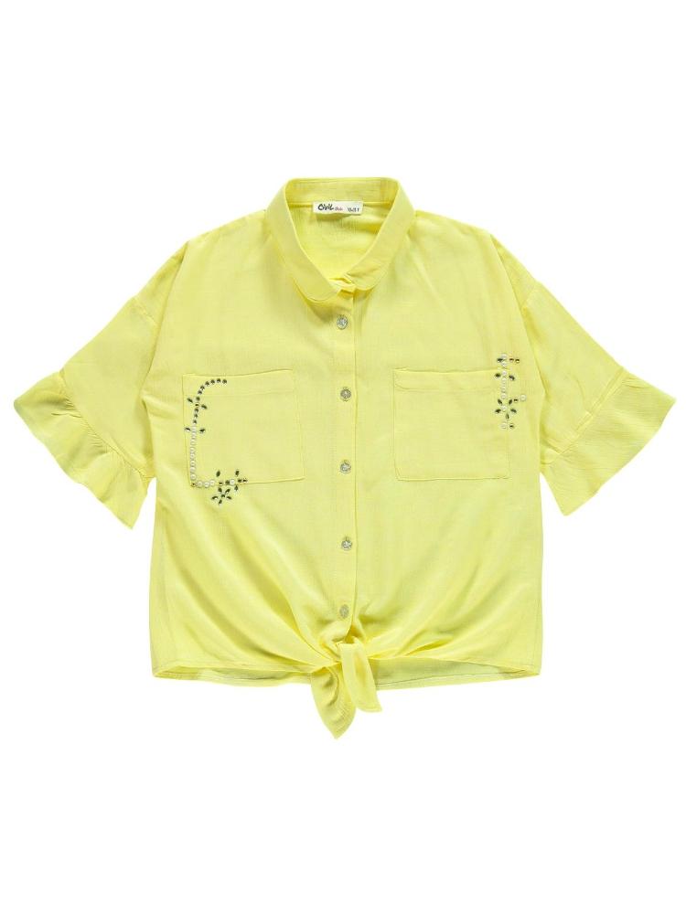 Picture of YELLOW Girls-Shirt-10-11-12-13 YEAR  (1-1-1-1) 4