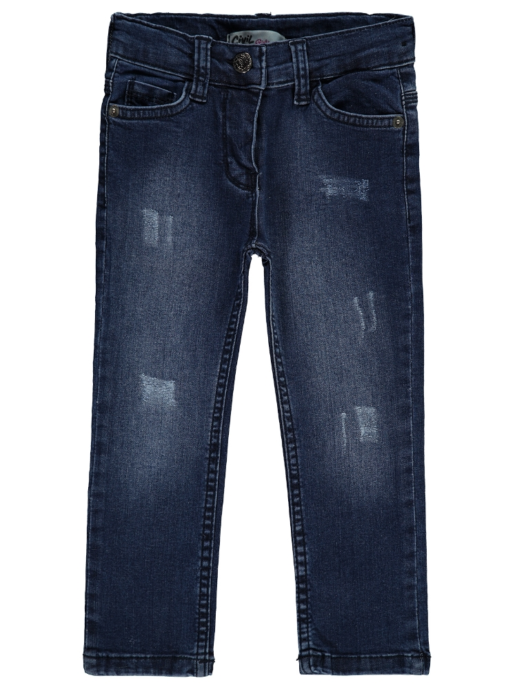 Picture of DARK BLUE Girls-Trousers-2-3-4-5 YEAR (1-1-1-1) 4