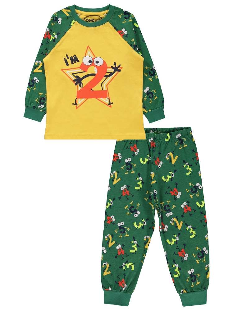 Picture of DARK GREEN Boys-Pajama Set-2-3-4-5 YEAR (1-1-1-1) 4