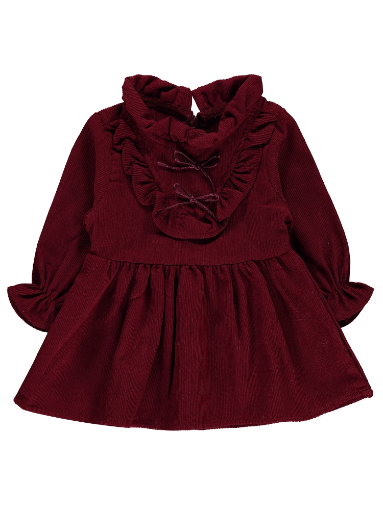 Picture of burgundy Baby Girl-Jumper and Dress-68-74-80-86 Size (1-1-2-2) 6